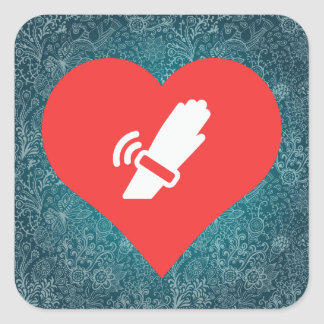 I Love Wifi Watches Cool Icon Square Sticker