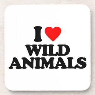 I LOVE WILD ANIMALS COASTERS