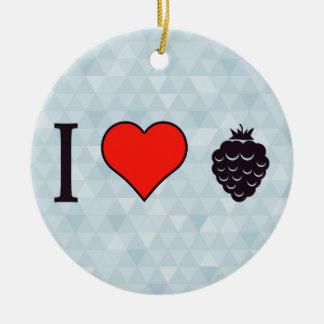 I Love Wild Berries Ceramic Ornament