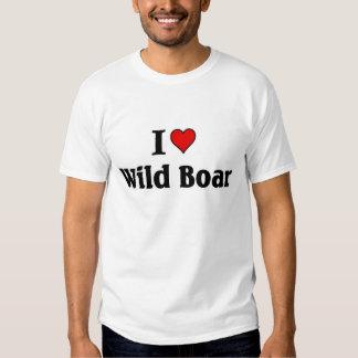 I love Wild Boar T Shirt