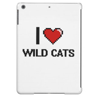 I love Wild Cats Digital Design Cover For iPad Air