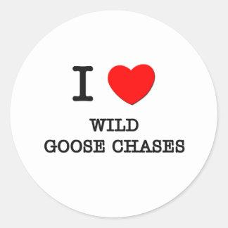 I Love Wild Goose Chases Round Sticker
