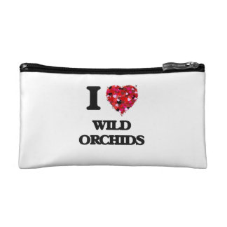 I love Wild Orchids Cosmetic Bag