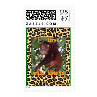I love wild things postage