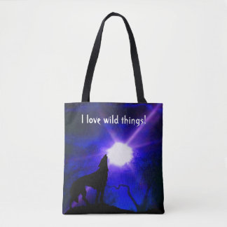 """I love Wild Things"" tote bag"