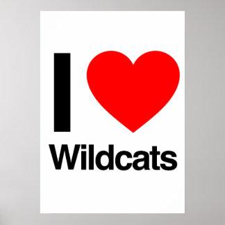 i love wildcats poster