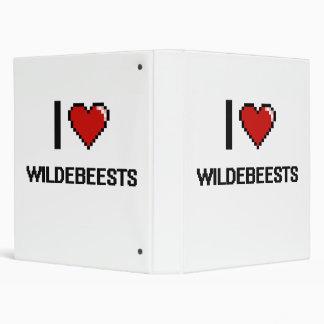 I love Wildebeests Digital Design 3 Ring Binder