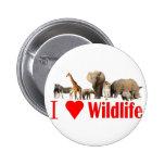 I love wildlife 2 inch round button