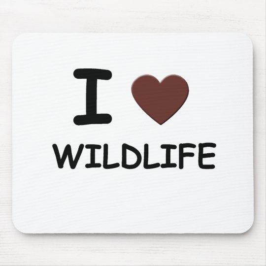 I LOVE WILDLIFE MOUSE PAD