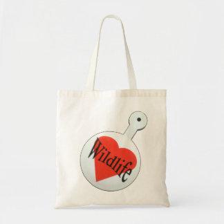 I Love Wildlife Tote Bag