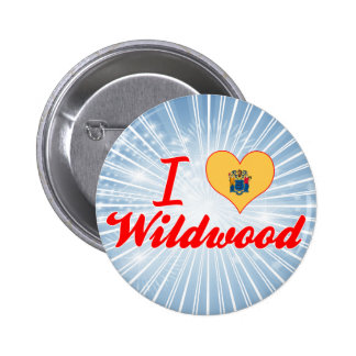 I Love Wildwood New Jersey Button