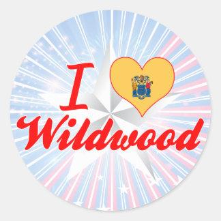 I Love Wildwood, New Jersey Sticker