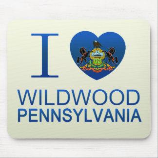I Love Wildwood, PA Mouse Pads