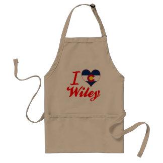 I Love Wiley, Colorado Adult Apron