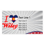 I Love Wiley, Colorado Business Card Template