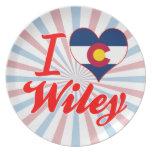 I Love Wiley, Colorado Dinner Plates
