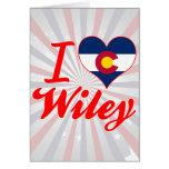 I Love Wiley, Colorado Greeting Card