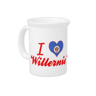 I Love Willernie Minnesota Pitcher