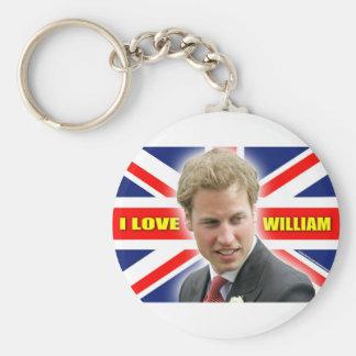 I Love William Keychain