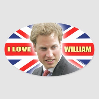 I Love William Oval Sticker