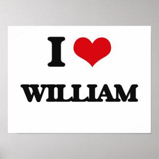 I Love William Poster