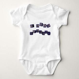 I love William toy blocks in blue Baby Bodysuit