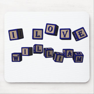 I love William toy blocks in blue Mouse Pad