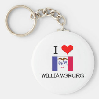 I Love WILLIAMSBURG Iowa Key Chains