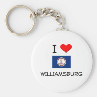 I Love Williamsburg Virginia Keychain