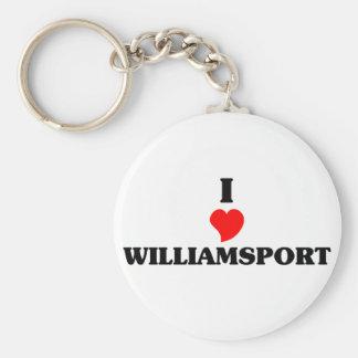 I love Williamsport Basic Round Button Keychain