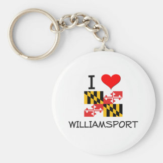 I Love Williamsport Maryland Basic Round Button Keychain