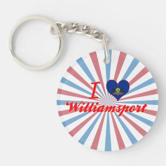 I Love Williamsport, Pennsylvania Single-Sided Round Acrylic Keychain