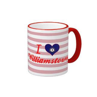 I Love Williamstown, Kentucky Mugs