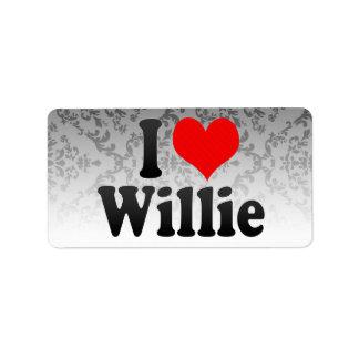 I love Willie Address Label