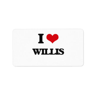 I Love Willis Address Label
