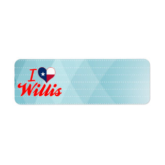 I Love Willis, Texas Return Address Label