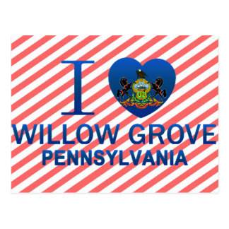 I Love Willow Grove, PA Postcards