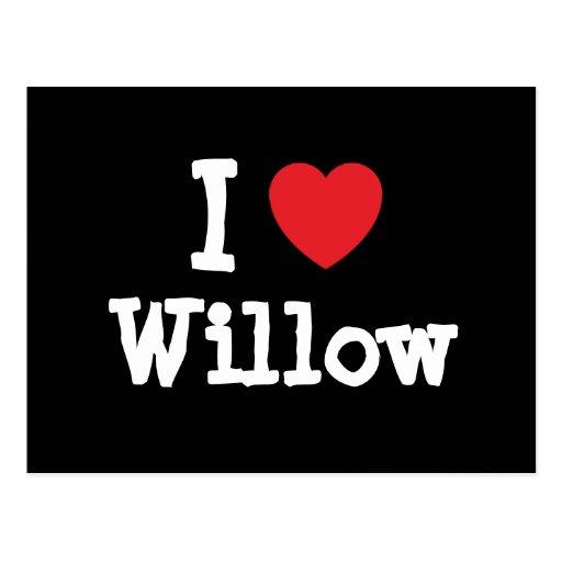 I love Willow heart T-Shirt Postcard