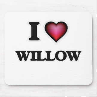 I Love Willow Mouse Pad