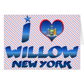 I love Willow, New York Card
