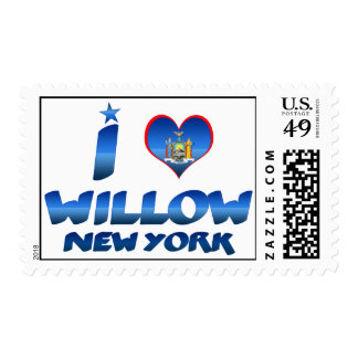 I love Willow, New York Postage
