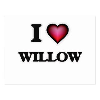 I Love Willow Postcard