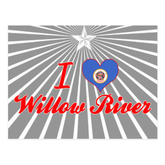 I Love Willow River, Minnesota Post Card