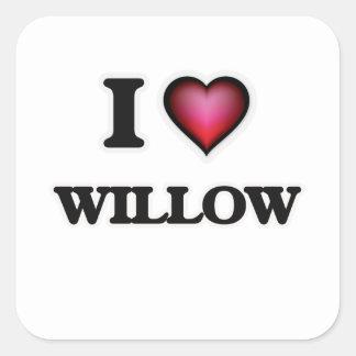 I Love Willow Square Sticker