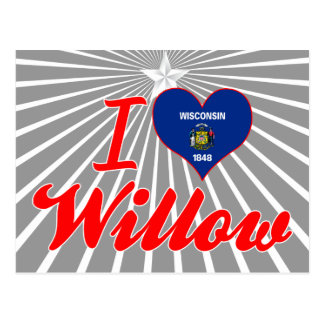I Love Willow, Wisconsin Post Card