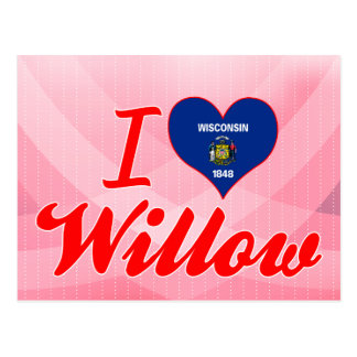 I Love Willow, Wisconsin Postcards