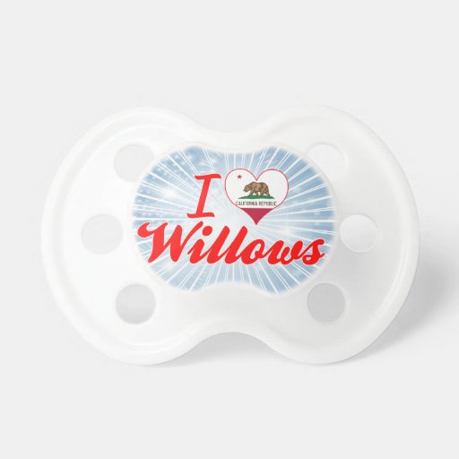 I Love Willows, California Baby Pacifier