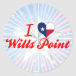 I Love Wills Point, Texas Stickers