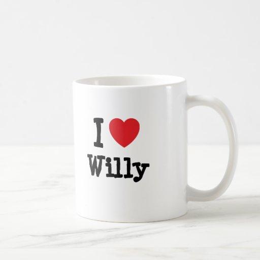 I love Willy heart custom personalized Mug