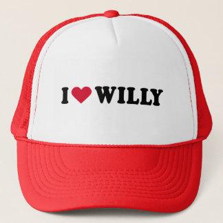 I LOVE WILLY TRUCKER HAT